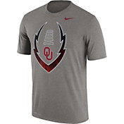 Nike Men's Oklahoma Sooners Grey Football Icon Legend T-Shirt