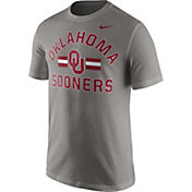 Nike Men's Oklahoma Sooners Grey Stadium Team First Stripe T-Shirt