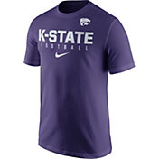 Nike Men's Kansas State Wildcats Purple Football Practice T-Shirt