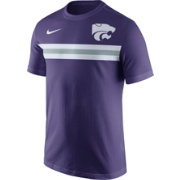 Nike Men's Kansas State Wildcats Purple Team Stripe Football T-Shirt