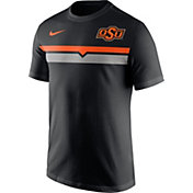 Nike Men's Oklahoma State Cowboys Team Stripe Football Black T-Shirt