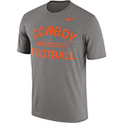 Nike Men's Oklahoma State Cowboys Grey Lift Football Legend T-Shirt