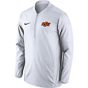 Nike Men's Oklahoma State Cowboys Lockdown White Half-Zip Performance Jacket