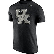 Nike Men's Kentucky Wildcats Heathered Black Tri-Blend Stamp T-Shirt