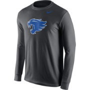 Nike Men's Kentucky Wildcats Anthracite Logo Long Sleeve Shirt