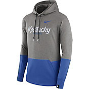 Nike Men's Kentucky Wildcats Grey/Blue Therma Hoodie