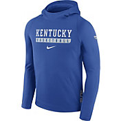 Nike Men's Kentucky Wildcats Blue ELITE Basketball Performance Hoodie