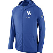 Nike Men's Kentucky Wildcats Blue Hyperelite Full-Zip Fleece ELITE Basketball Hoodie