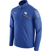 Nike Men's Kentucky Wildcats Blue Elite Coaches Half-Zip Shirt