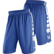 Nike Men's Kentucky Wildcats Blue Basketball Practice ELITE Stripe Shorts