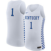 Nike Men's Kentucky Wildcats White #1 Replica ELITE Basketball Jersey