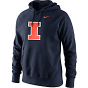Nike Men's Illinois Fighting Illini Blue Classic Logo Hoodie