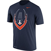Nike Men's Illinois Fighting Illini Blue Football Icon Legend T-Shirt