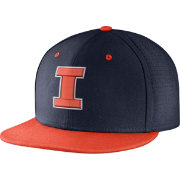 Nike Men's Illinois Fighting Illini Blue/Orange True Vapor Fitted Baseball Hat