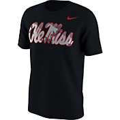 Nike Men's Ole Miss Rebels Black Project Fresh Camo Pack T-Shirt