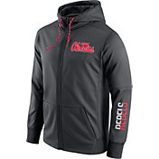 Nike Men's Ole Miss Rebels Anthracite Circuit Full-Zip Hoodie
