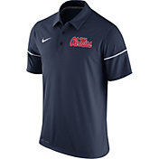 Nike Men's Ole Miss Rebels Blue Team Issue Performance Polo