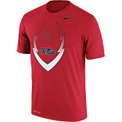 Nike Men's Ole Miss Rebels Red Football Icon Legend T-Shirt