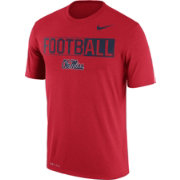 Nike Men's Ole Miss Rebels Red FootbALL Legend T-Shirt