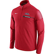 Nike Men's Ole Miss Rebels Red Elite Coaches Half-Zip Shirt