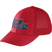 Nike Men's Ole Miss Rebels Red Legacy91 Flex Mesh Back Hat