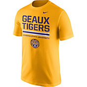 Nike Men's LSU Tigers Gold 'Geaux Tigers' Local Verbiage T-Shirt