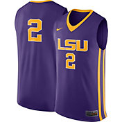 Nike Men's LSU Tigers #2 Purple Replica ELITE Basketball Jersey