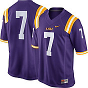 Nike Men's LSU Tigers #7 Purple Game Football Jersey