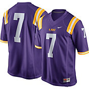 Nike Men's LSU Tigers #7 Purple Limited Football Jersey