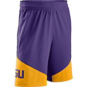 Nike Men's LSU Tigers Purple/Gold New Classics ELITE Basketball Shorts