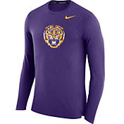 Nike Men's LSU Tigers Purple March Basketball Performance Long Sleeve Shirt