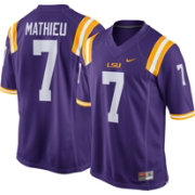 Nike Men's Tyrann Mathieu LSU Tigers #7 Purple Replica College Alumni Jersey