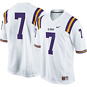 Nike Men's LSU Tigers White #7 Game Football Jersey