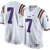 Nike Men's LSU Tigers White #7 Limited Football Jersey