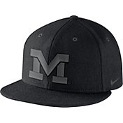 Nike Men's Michigan Wolverines New Day Black True Snapback Hat