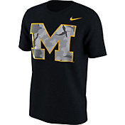 Nike Men's Michigan Wolverines Black Project Fresh Camo Pack T-Shirt