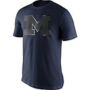 Nike Men's Michigan Wolverines Blue Champ Drive Football T-Shirt