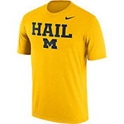 Nike Men's Michigan Wolverines Maize 'Hail' Authentic Local Legend T-Shirt
