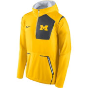Nike Men's Michigan Wolverines Maize Vapor Speed Fly Rush Sideline Jacket