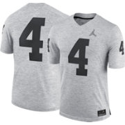 Jordan Men's Michigan Wolverines #4 Gridiron Grey Limited Football Jersey