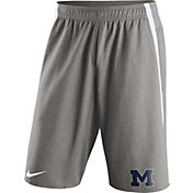 Nike Men's Michigan Wolverines Grey Champ Drive Untouchable Shorts