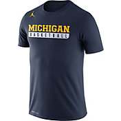 Jordan Men's Michigan Wolverines Blue Legend Basketball Practice T-Shirt