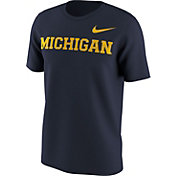 Nike Men's Michigan Wolverines Blue Benassi Hook T-Shirt