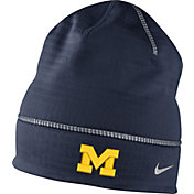 Nike Men's Michigan Wolverines Blue Champ Drive Fleece Beanie