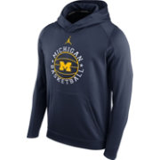 Jordan Men's Michigan Wolverines Blue Circuit Basketball Hoodie