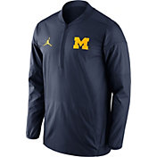 Jordan Men's Michigan Wolverines Blue Lockdown Half-Zip Performance Jacket