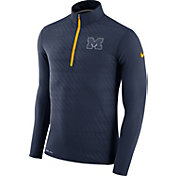 Nike Men's Michigan Wolverines Blue Element Quarter-Zip Shirt