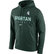 Nike Men's Michigan State Spartans Green Circuit Performance Football Hoodie