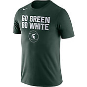 Nike Men's Michigan State Spartans Green Basketball T-Shirt
