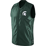 Nike Men's Michigan State Spartans Green Hyperelite 2.0 Basketball Game Vest